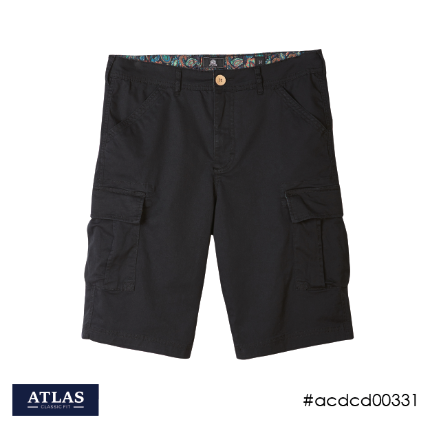 Mens Cargo Shorts - Black