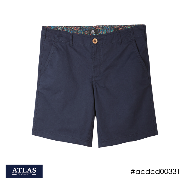Fixed-waist Shorts - Navy