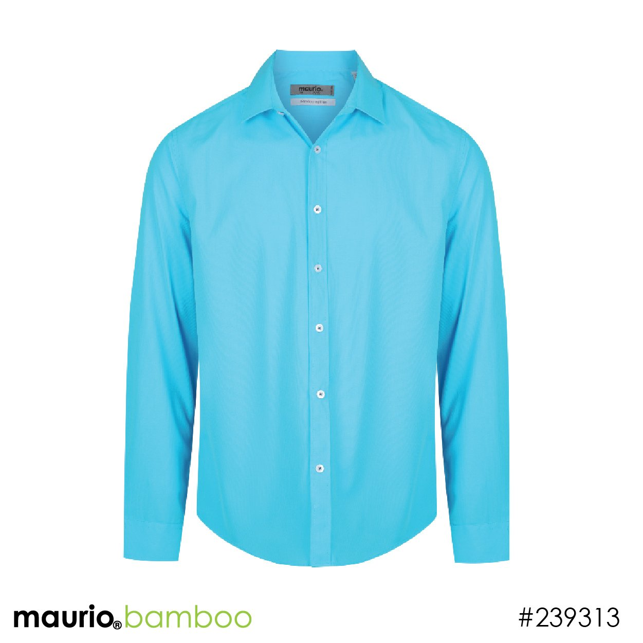 Dress shirt bamboo fabric - aqua