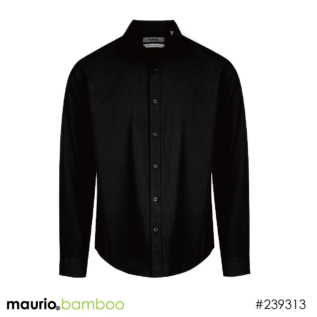 Dress shirt bamboo fabric - black
