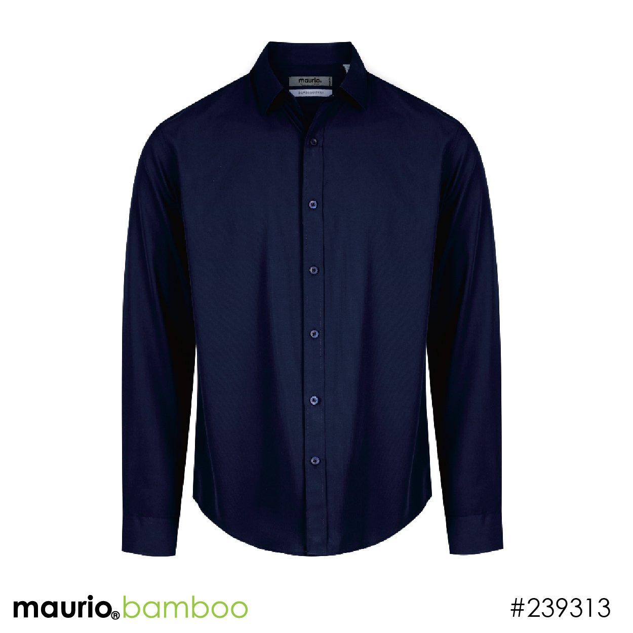 Dress shirt bamboo fabric - navy