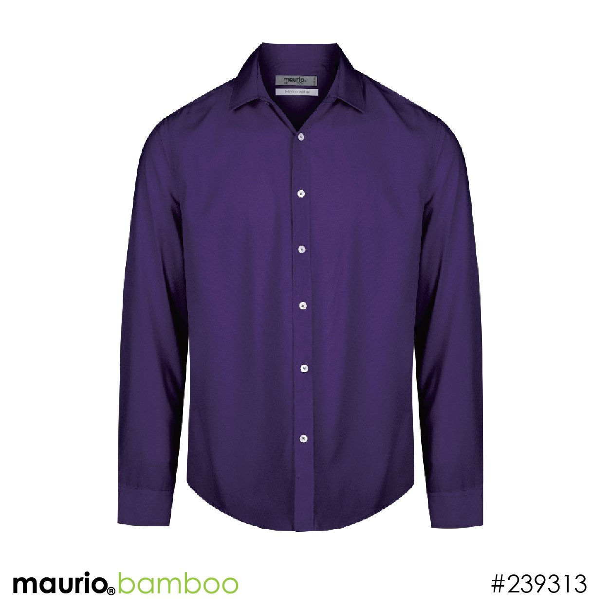 Dress shirt bamboo fabric - plum
