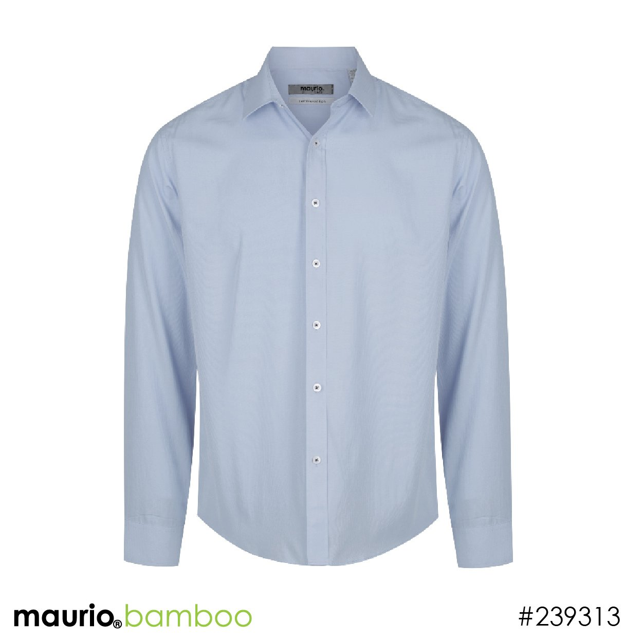 Dress shirt bamboo fabric - silver