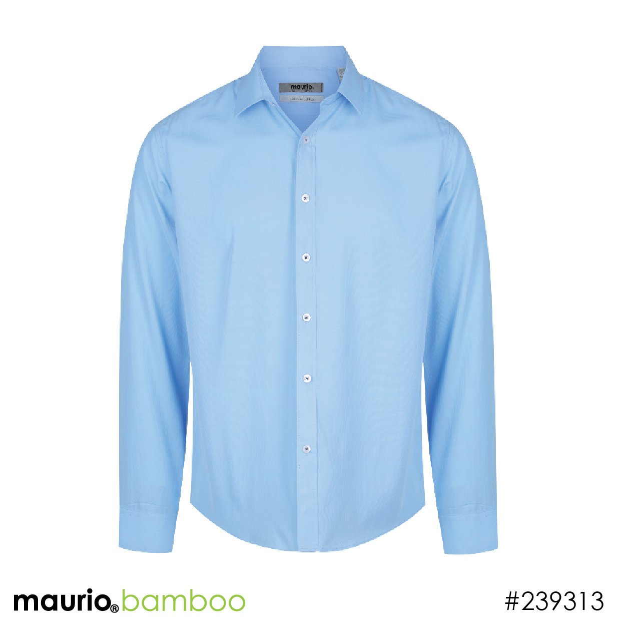 Dress shirt bamboo fabric - sky blue