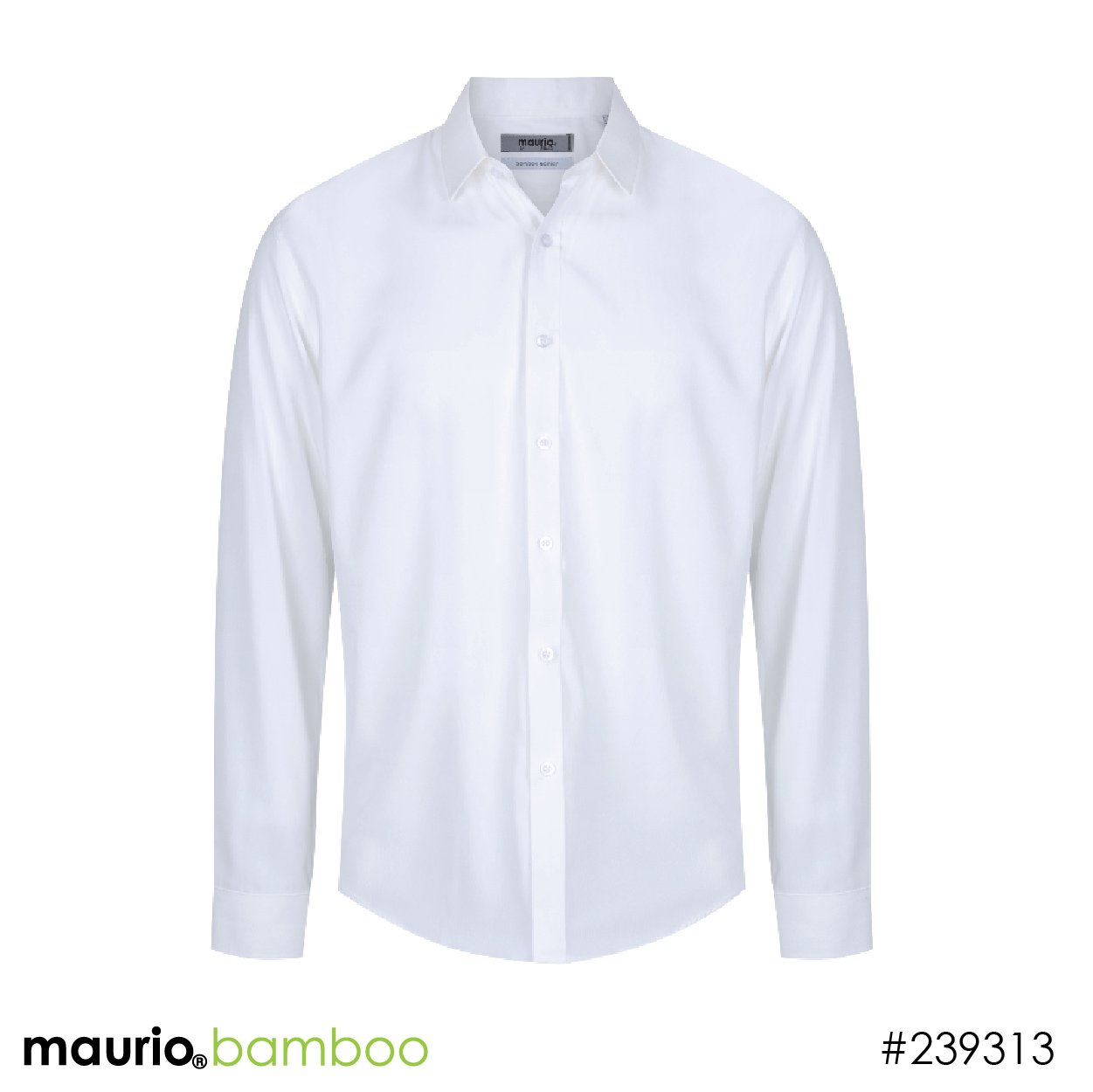 Dress shirt bamboo fabric - white