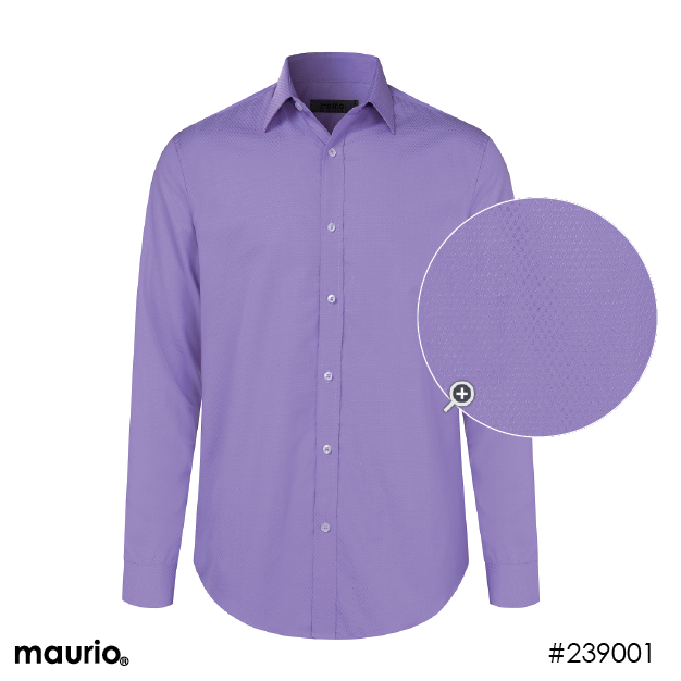 Maurio Dress Shirts_Self Pattern - Light Purple
