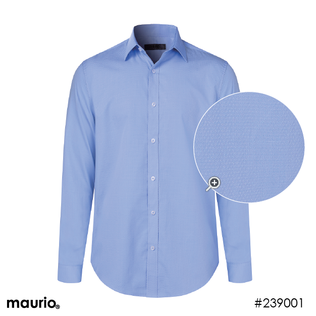Maurio Dress Shirts_Self Pattern - Powder blue