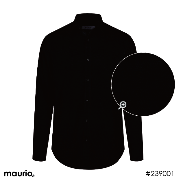 Maurio Dress Shirts_Self Pattern - black