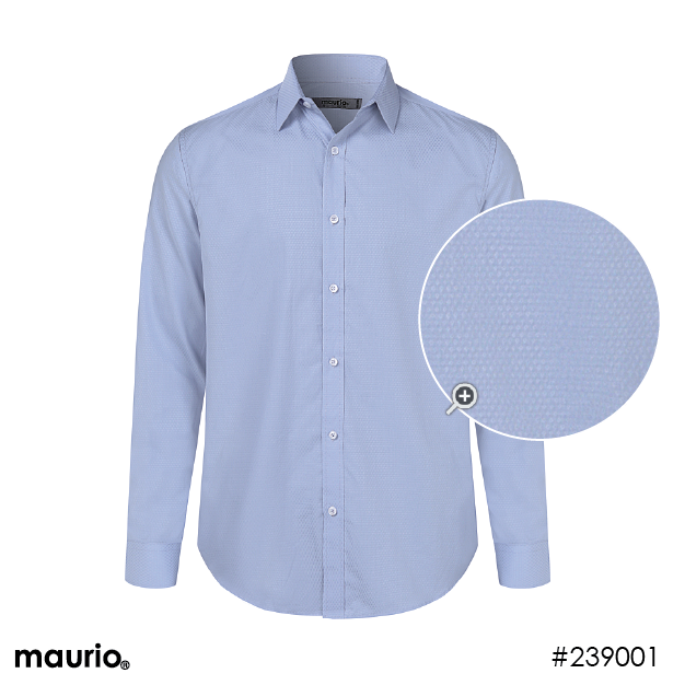 Maurio Dress Shirts_Self Pattern - silver