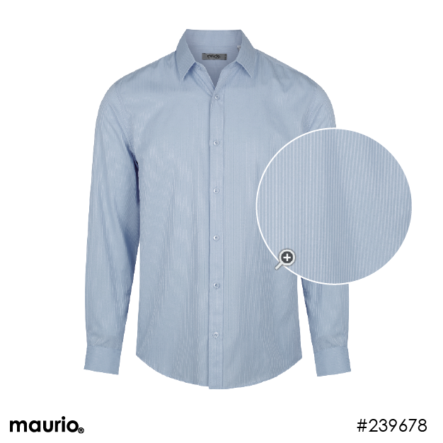 Maurio Dress Shirt - Self Stripe Silver