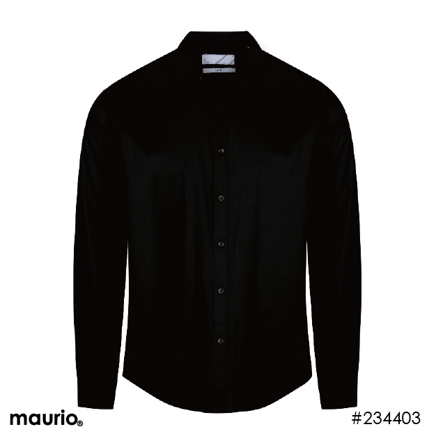 Long Sleeved Slim-Fit Sports Shirt - Black